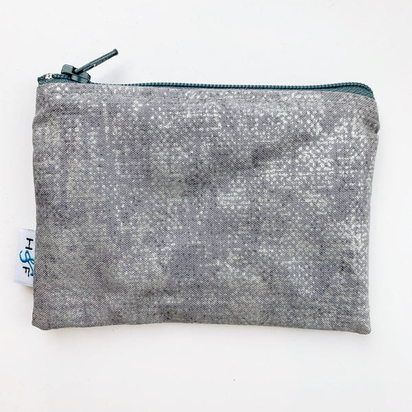 SMALL ReUsable Snack Bag - concrete grey silver