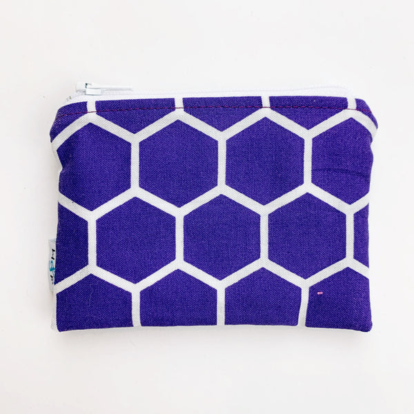 SMALL ReUsable Snack Bag - purple honeycomb