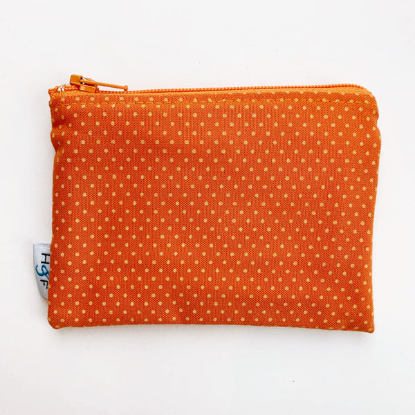 SMALL ReUsable Snack Bag - orange dot