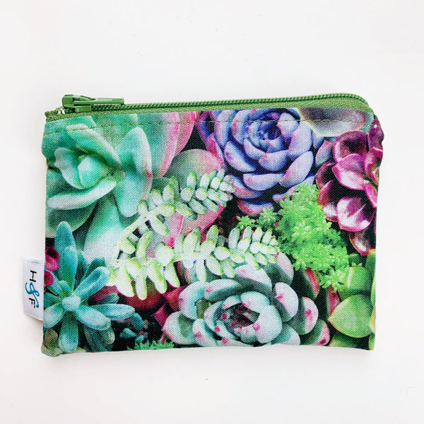 SMALL ReUsable Snack Bag - succulent