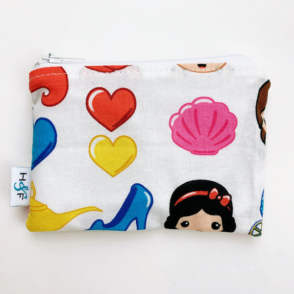SMALL ReUsable Snack Bag -  princess emoji