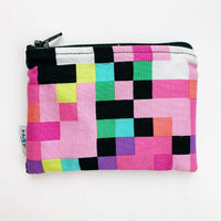 SMALL ReUsable Snack Bag -  pink squares
