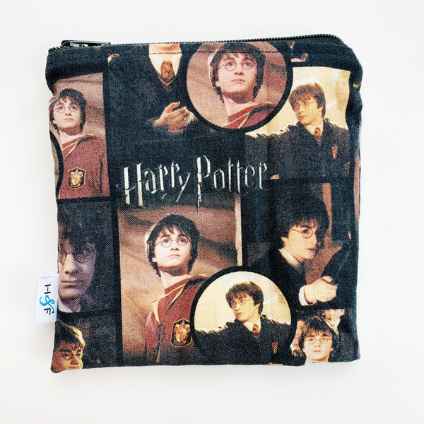 MEDIUM 'square' ReUsable Snack Bag - harry potter