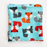 MEDIUM 'square' ReUsable Snack Bag - aqua fox