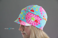 Downtown Hat -cotton jersey NEON FLORAL