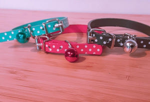 Dots Cat Dog collars with Bell