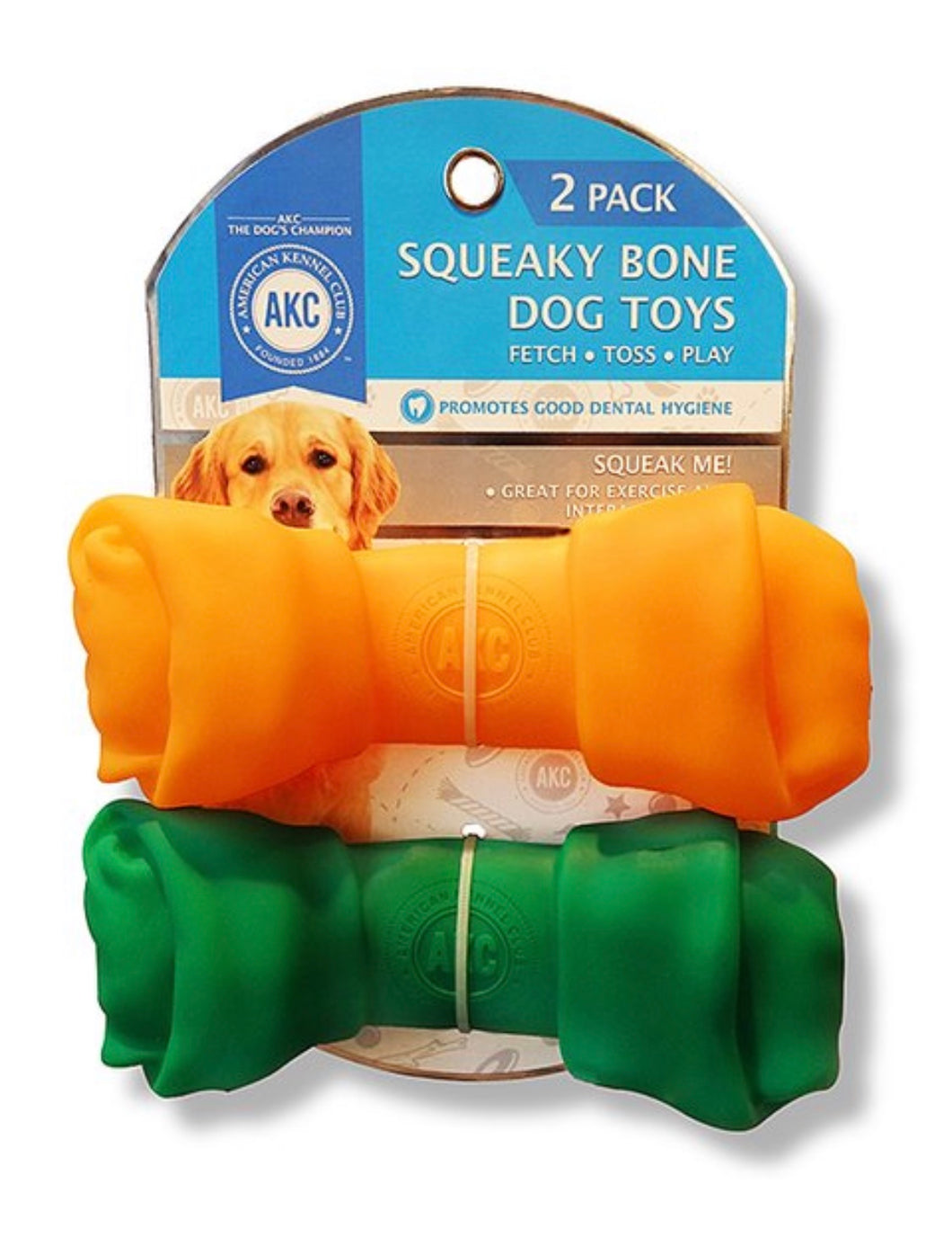 Squeaky Bone Dog Toy (two pack)