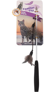 PetPals Cat Toy Feather Retractable Wand