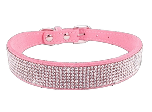 Rhinestones Dog Collar 10 Rows