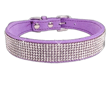 Load image into Gallery viewer, Rhinestones Dog Collar 10 Rows
