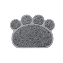 Load image into Gallery viewer, Gray Paw Shape Pet Food & Litter Mat