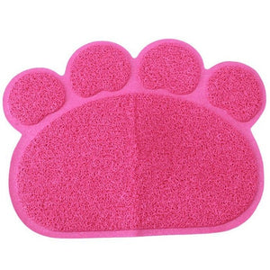 Blue Paw Shape Pet Food & Litter Mat