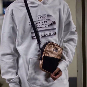 Supreme×THE NORTH FACE 18ss Metallic Shoulder Bag  ショルダーバッグ ポシェット男女兼用 yellow gold silver 3色
