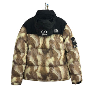 Supreme x THE NORTH FACE Nuptse Jacket 13FW 男女兼用 防寒  ウンジャケット gold