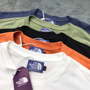 THE NORTH FACE THF パープルレーベル 7OZ H/S POCKET Tシャツ blue white orange beige black