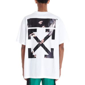 Off-White セール オフホワイト Tシャツ 2020SS CARAVAGGIO ARROWS S/S OVER Tシャツ black white 2色