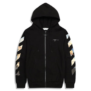 Off-White Diag Coloured Arrow off white zip-up hoodie オフホワイトパーカー ブラック
