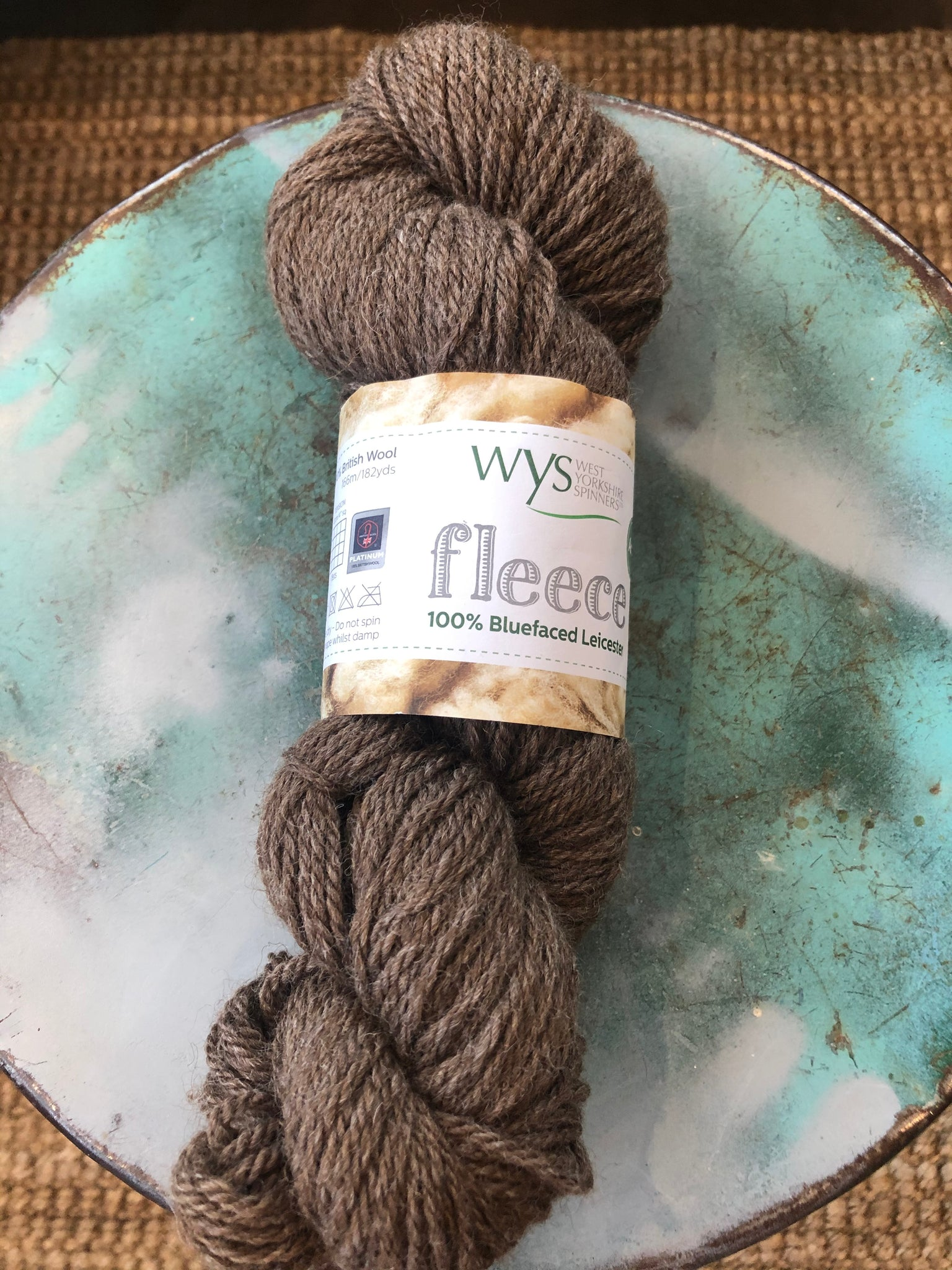 West Yorksire Spinners Calcetines Azul frente Leicester wool Talla 7-11 Robin