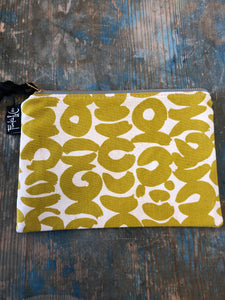 Frankie and Coco small project flat zippered pouch