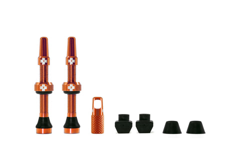 Muc Off 44mm Tubeless Valves Orange