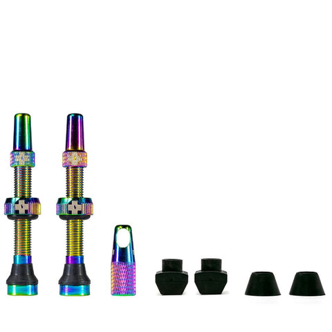 Muc Off 44mm Tubeless Valves Iridescent - Moonglu