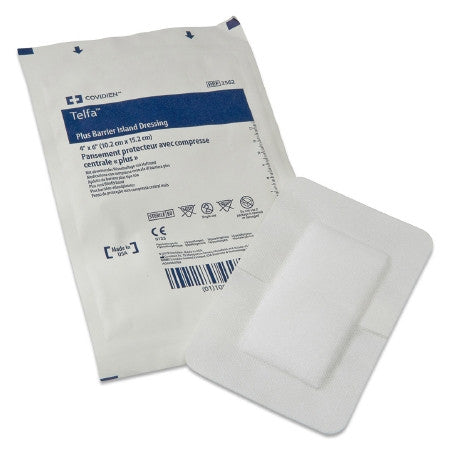 "Adhesive Dressing Telfa Plus 6"" X 10 """