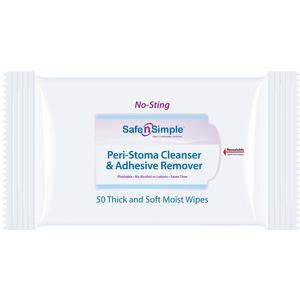 "Adhesive Remover Wipes Ostomy 5"" x 7"""