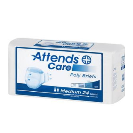 Adult Briefs - Unisex Adult Incontinence Brief Attends Care Disposable Moderate Absorbency