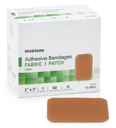 Adhesive Bandage - Elastic Fabric Rectangle Tan Sterile
