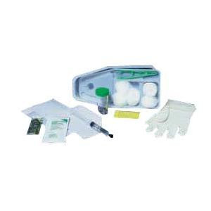 Catheter Insertion Tray with 10cc Prefilled Water Syringe, Latex-Free Exam Gloves, Underpad