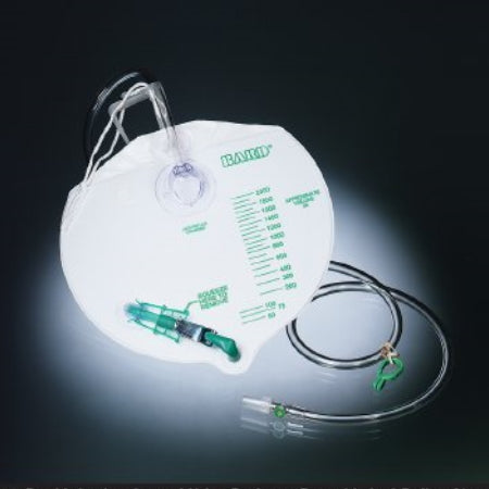 Night Drainage Bag - Bard I.C. Infection Control Urine Drainage Bag with Anti-Reflux Chamber, 2000mL