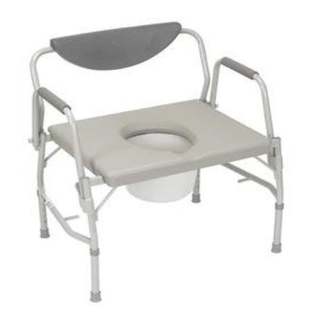 "Commode - Bariatric Drop-arm Commode 23"" wide 1000lb capacity"