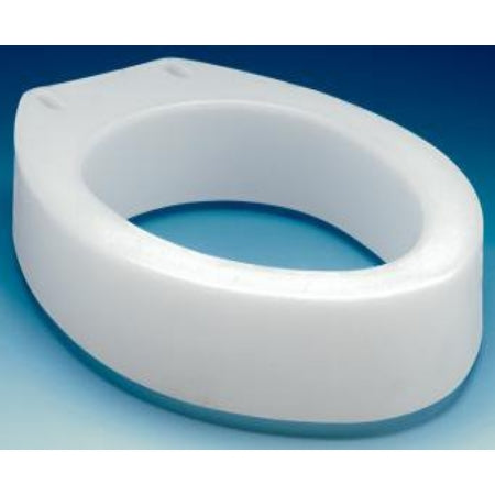 Raised Toilet Seat - Elongated 3-1/2 Inch White, Capacity: 300 lbs.