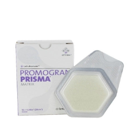 Collagen Dressing with Silver Promogran Prisma Matrix Hexagon Sterile