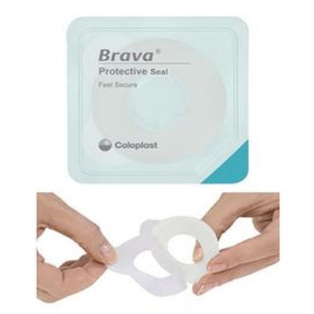 "Ostomy Protective Seal - Coloplast Brava Protective Seal, 1-1/8"" Starter Hole, 27mm, 4.2mm Thick"