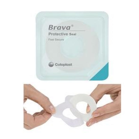 "Ostomy Protective Seal - Coloplast Brava Protective Seal, 1-1/8"" Starter Hole, 27mm, 2.5mm Thick"