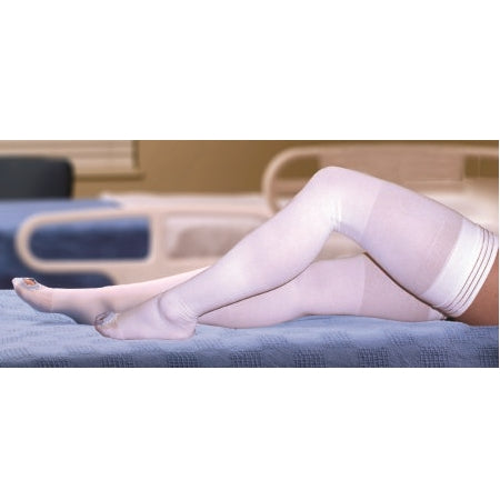 Anti-embolism Stockings - McKesson Thigh High White Inspection Toe