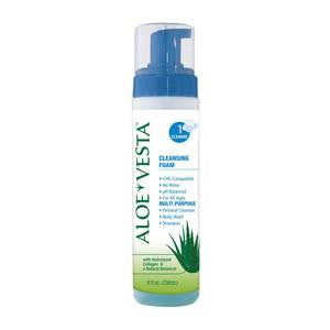 ConvaTec Aloe Vesta Cleansing Foam, No-Rinse 8 oz Bottle