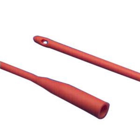 "Intermittent Catheter - Kendall Dover Robinson Red Rubber Urethral Catheter, 14Fr, 16"" L"
