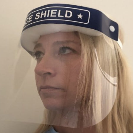 Face Shield - Pack of 10 One Size Fits Most Full Length Anti-fog Disposable NonSterile