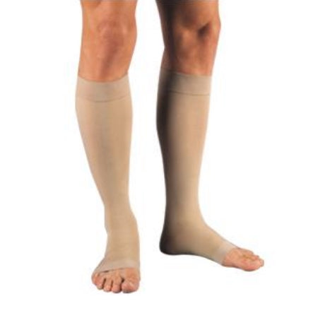 Compression Stockings - Knee High Medium Beige Open Toe