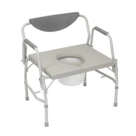 Commode - Deluxe Bariatric Drop-arm Commode, 1000 lb Weight Capacity