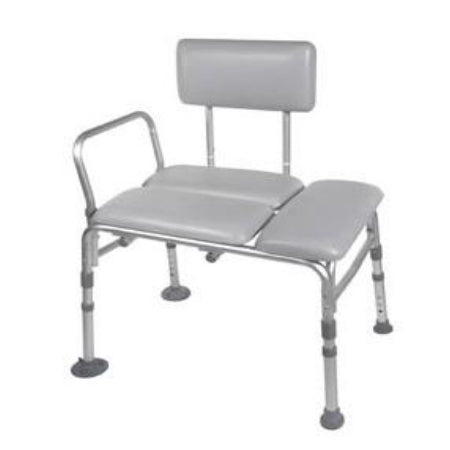 Transfer Bench - Drive Medical Knock Down Padded Transfer Bench, Aluminum