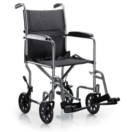 "Transport Chair - McKesson 19"" Steel Frame 250 lbs. Weight Capacity"