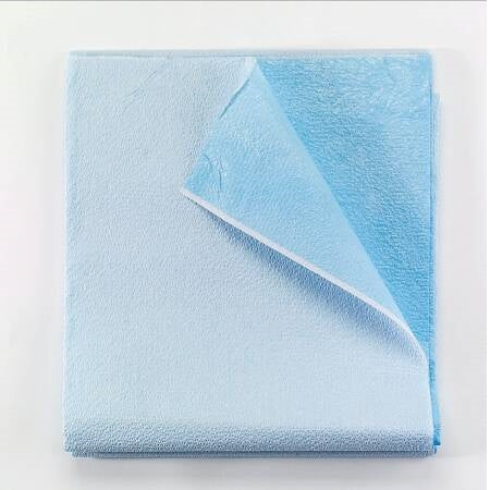 Stretcher Sheet -  Flat Blue Tissue / Poly Disposable