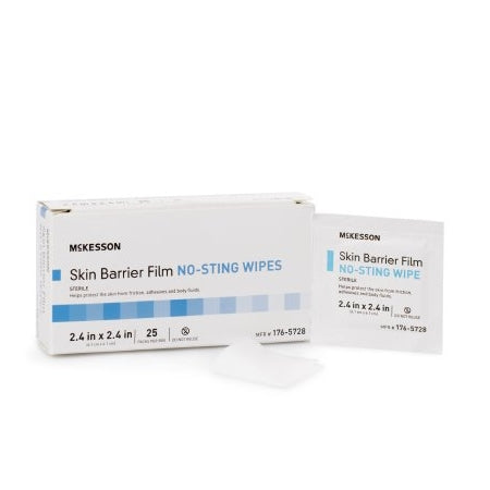 Skin Barrier Wipe - McKesson Individual Packet 2 - 2/5 X 2 - 2/5 Inch Sterile