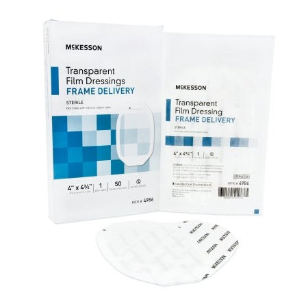 Wound Dressing - Transparent Film Dressing Octagon 4 X 4-3/4 Inch Frame Style Delivery Sterile