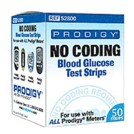 Diabetic Test Strips - Prodigy No Coding, For Use With Prodigy® Autocode and Prodigy® Voice Blood Glucose Meters