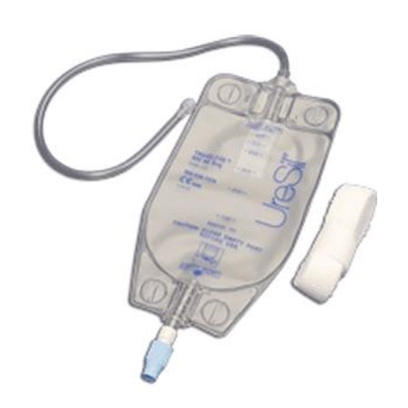 Nephrostomy Gravity Drain Bag - UreSil Tru-Close 600 mL