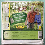 Incontinence Briefs - Wellness® Brief Original Adult Diaper